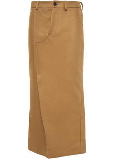 Marni Woman Cotton-gabardine Midi Skirt Camel