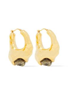 Marni Woman Gold-tone Pyrite Earrings Gold
