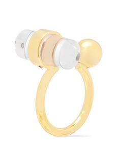 Marni Woman Gold-tone Resin Ring Clear