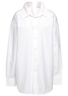 Marni Woman Oversized Cotton-poplin Shirt White