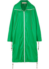 Marni Woman Oversized Shell Hooded Raincoat Green