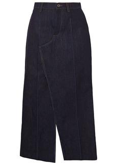 Marni Woman Paneled Denim Midi Skirt Dark Denim