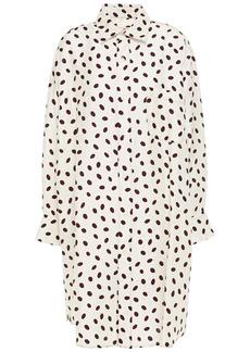 Marni Woman Polka-dot Satin-jacquard Shirt Dress Ivory