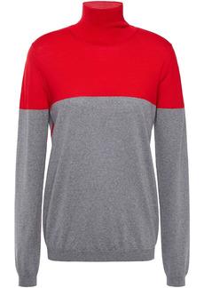 Marni Woman Two-tone Wool Turtleneck Sweater Red