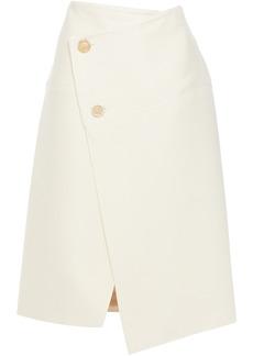 Marni Woman Wool-blend Twill Wrap Skirt Cream