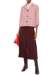 Marni Woman Wool-crepe Culottes Burgundy
