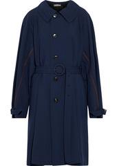 Marni Woman Wool-twill Trench Coat Navy