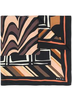 Marni multi-pattern scarf