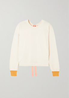 Marni Open-back Color-block Cotton And Cashmere-blend Sweater