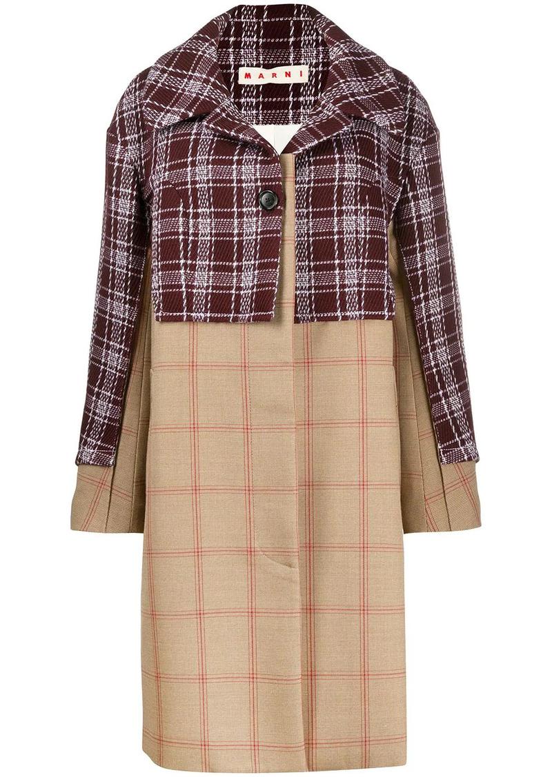 Marni oversized check coat