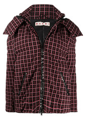 Marni oversized checkered puffer jacket