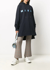 Marni oversized logo print hoodie