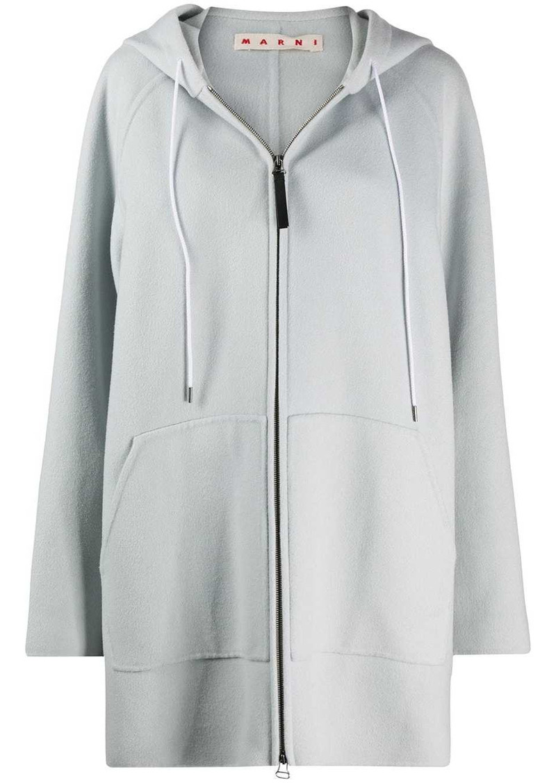 Marni oversized zipped hooded jacket