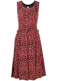 Marni pleated lip-print dress