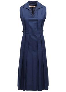 Marni Pleated Polo Cotton Dress