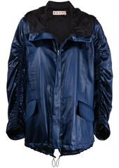 Marni ruched hooded jacket