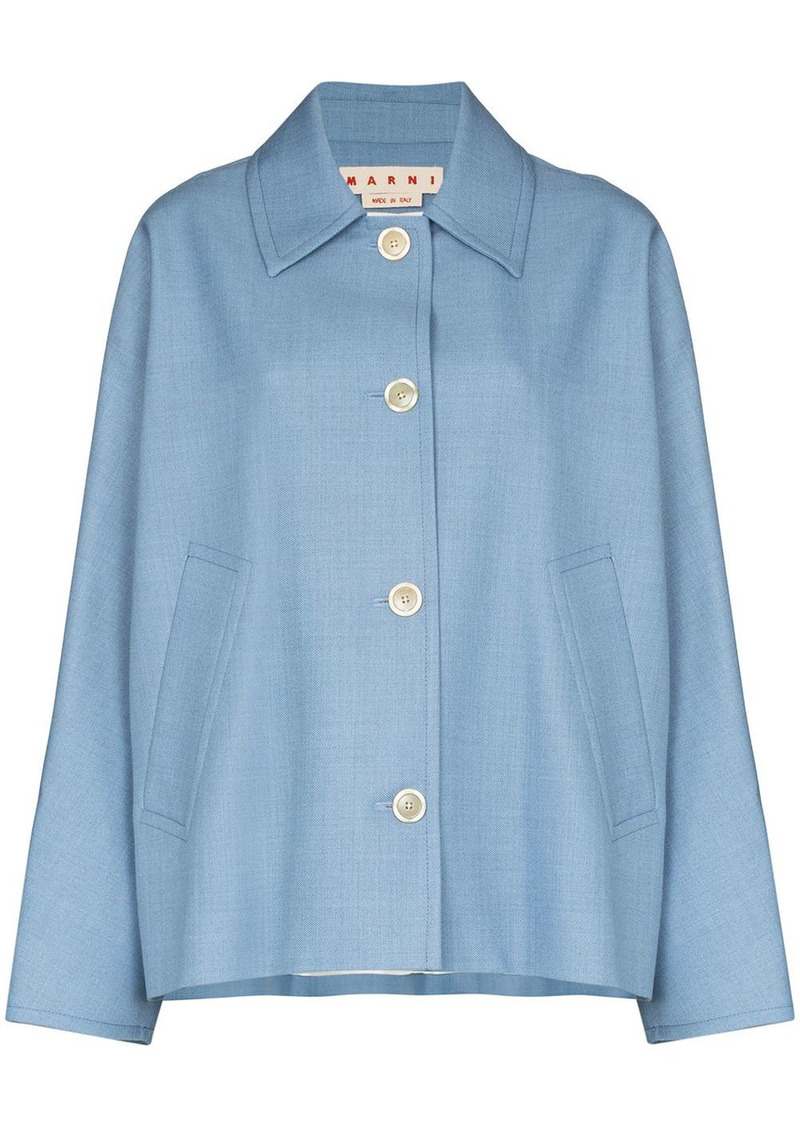Marni pleated back buttoned jacket