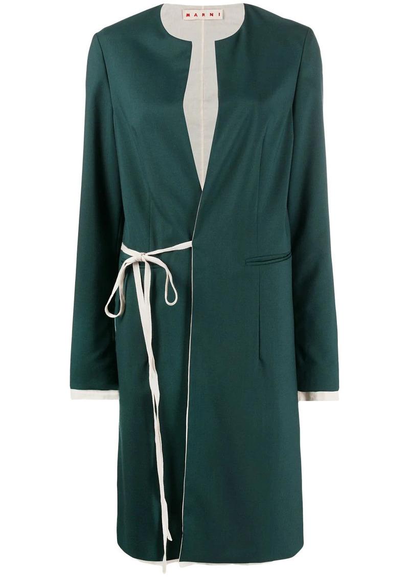Marni single-breasted wraparound coat