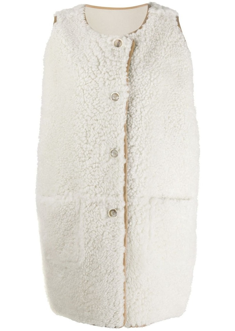 Marni sleeveless lamb fur jacket