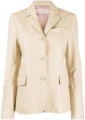 Marni slim-fit leather blazer