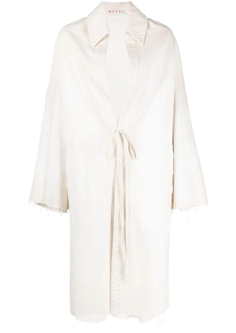 Marni tie-fastening oversized coat