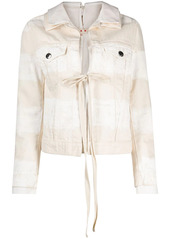 Marni tie front denim jacket