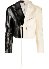Marni two-tone cropped jacket