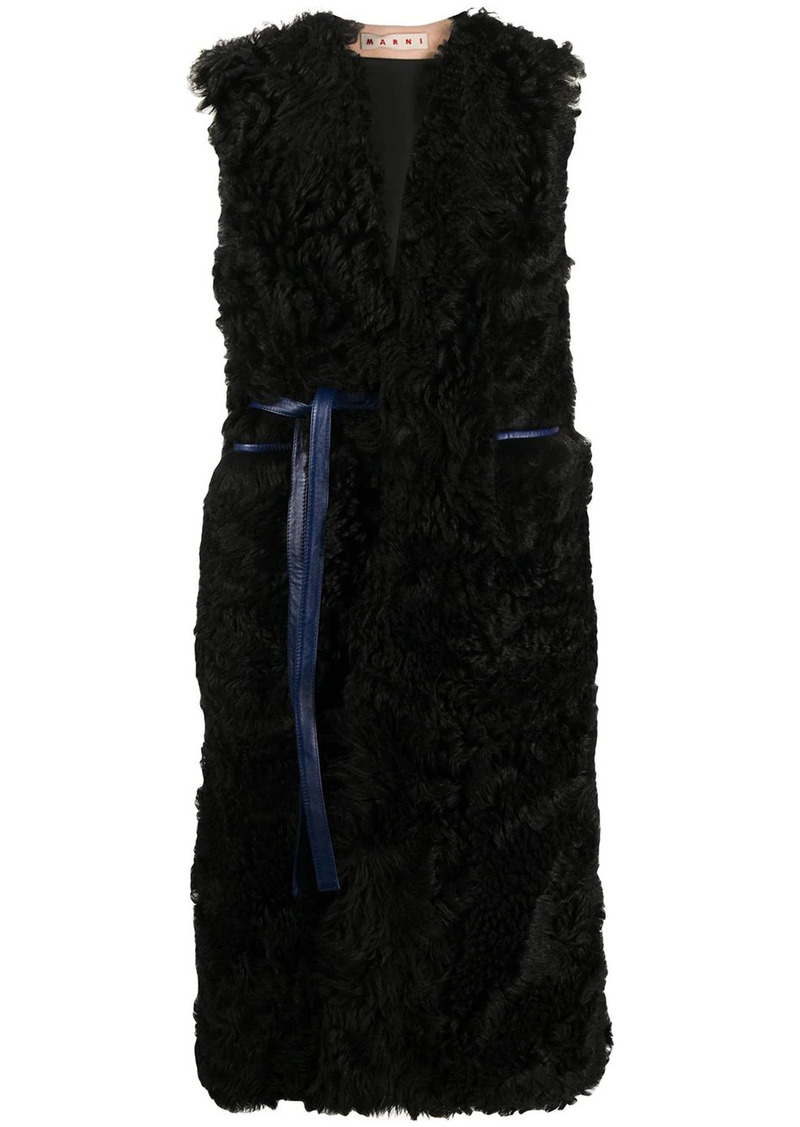 Marni v-neck long gilet