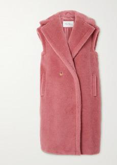 Max Mara Gettata Double-breasted Alpaca-blend Faux Fur Vest