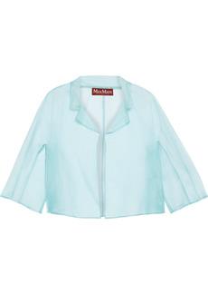 Max Mara Woman Valido Cropped Silk-organza Jacket Mint