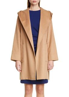 Women's Max Mara Rialto Hooded Camel Hair Coat