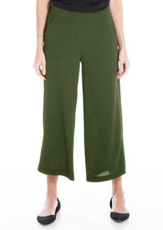 Max Studio High Waist Patterned Crepe Culotte Pants