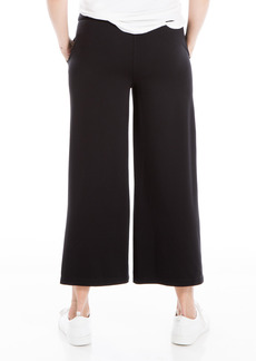 Max Studio High Waist Wide Leg Crop Ponte Knit Pants