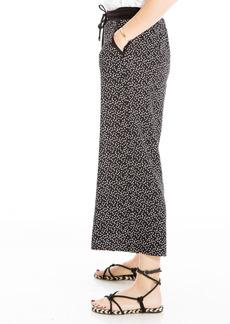 Max Studio Stripe Wide Leg Drawstring Pants