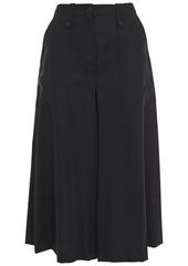 Mcq Alexander Mcqueen Woman Button-detailed Wool-twill Culottes Black