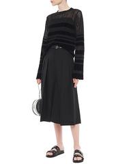 Mcq Alexander Mcqueen Woman Pleated Wool-twill Culottes Black