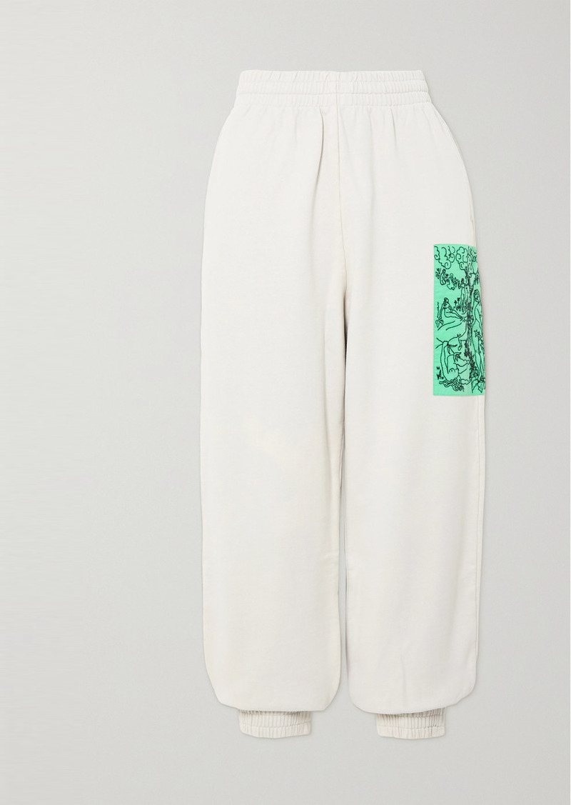 McQ Alexander McQueen True Appliquéd Cotton-jersey Track Pants