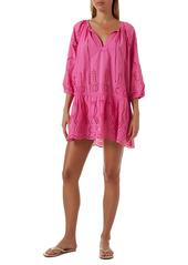 Melissa Odabash Ashley Eyelet Detail Cotton Cover-Up Tunic
