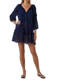 Women's Melissa Odabash Ashley Eyelet Detail Cotton Cover-Up Tunic