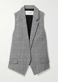 Michael Kors Antibes Checked Wool Vest