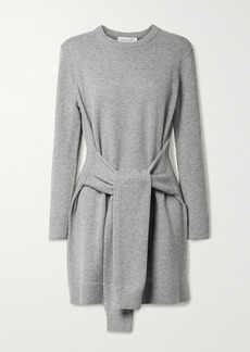 Michael Kors Belted Mélange Cashmere Mini Dress