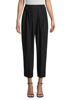 Michael Kors Cropped Pleated Wool Trousers