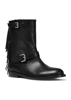 Michael Kors Ingrid Fringe Leather Moto Boots