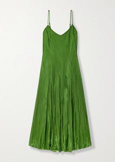 Michael Kors Jamison Crinkled-satin Midi Dress