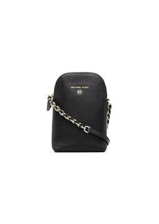 Michael Kors leather shoulder bag with chain-link strap