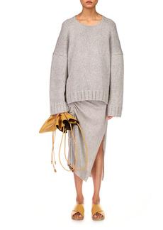 Michael Kors Collection - Women's Elliptical Hem Handknit Cashmere Sweater - Grey - Moda Operandi