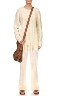 Michael Kors Collection - Women's Hand-Embroidered Fringe Cashmere Sweater - White - Moda Operandi