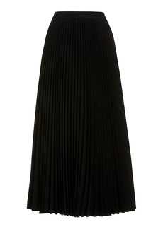 Michael Kors Collection - Women's Pleated Wool-Serge Flared Skirt - Black - Moda Operandi
