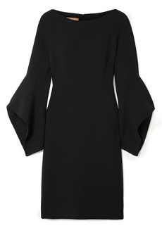 Michael Kors Collection Woman Draped Wool-blend Crepe Mini Dress Black