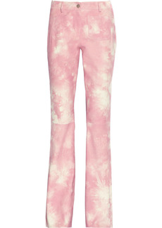 Michael Kors Collection Woman Printed Suede Flared Pants Baby Pink